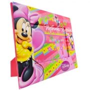 Porta Retrato Cartonado Infantil Minnie Disney
