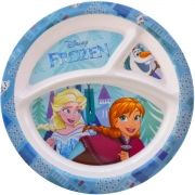 Prato com Divisória Infantil Frozen Disney - Gedex