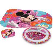 Prato Infantil com Divisória mais Jogo Americano Minnie Disney
