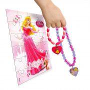 Pulseira E Colar Colorido Princesas Com Pingentes Coração