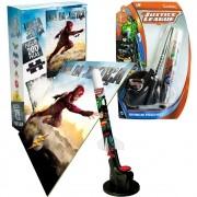 Quebra-cabeça 200 Pçs Flash + Lança Foguete Liga Da Justiça