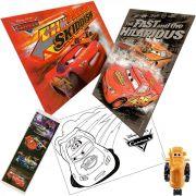 Quebra cabeça + Carrinho Trator + Posters e Adesivo Carros Disney