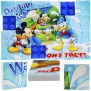 Quebra Cabeça Mosaico de Plástico com 24 Peças Mickey Disney