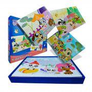 Coleção com 4 Quebra Cabeças Bichinhos Pet Shop My Littlest Pet Shop - Hasbro