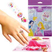 Sacolinha Surpresa  Aurora com Anel Princesas Disney + 4 Itens