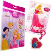 Sacolinha Divertida  Aurora com Chaveiro Princesas Disney + 4 Itens