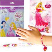 Sacolinha Divertida  Aurora com Pulseira Princesas Disney + 4 Itens