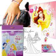Sacolinha Divertida  Bela c/ Elástico de Cabelo Princesas Disney + 4 Itens