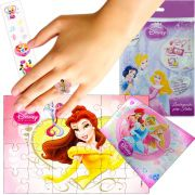Sacolinha Divertida  Bela com Anel Princesas Disney +4 Itens