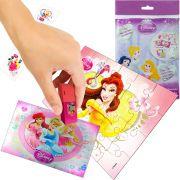Sacolinha Divertida Bela com Borracha Princesas Disney + 4 Itens