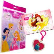 Sacolinha Divertida  Bela com Chaveiro Princesas Disney + 4 Itens