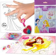 Sacolinha Surpresa  Bela com Chaveiro Princesas Disney + 4 Itens