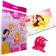 Sacolinha Divertida  Bela com Piranha de Cabelo Princesas Disney + 4 Itens