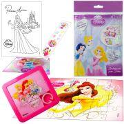 Sacolinha Divertida Bela com Quebra-Cuca Princesas Disney + 4 Itens