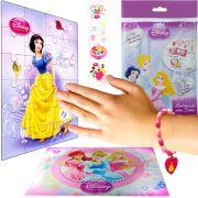 Sacolinha  Surpresa Branca de Neve c/ Pulseira Princesas Disney + 4 Itens