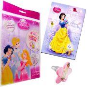 Sacolinha Divertida Branca de Neve com Anel Princesas Disney +4 Itens