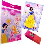 Sacolinha Divertida  Branca de Neve com Borracha Princesas Disney + 4 Itens