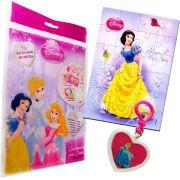 Sacolinha Divertida Branca de Neve com Chaveiro Princesas Disney + 4 Itens
