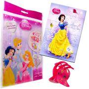 Sacolinha Divertida  Branca de Neve com Piranha de Cabelo Princesas Disney + 4 Itens
