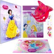 Sacolinha  Surpresa  Branca de Neve com Piranha de Cabelo Princesas Disney + 4 Itens