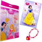 Sacolinha Divertida Branca de Neve c/ Pulseira Princesas Disney + 4 Itens