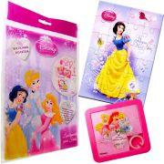 Sacolinha Divertida Branca de Neve com Quebra-Cuca Princesas Disney + 4 Itens