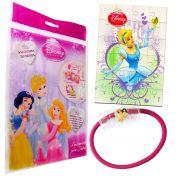 Sacolinha Divertida Cinderela  Elástico de Cabelo Princesas Disney