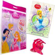 Sacolinha Divertida Cinderela com Piranha de Cabelo Princesas Disney + 4 Itens
