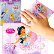 Sacolinha Divertida  Jasmine com Anel  Princesas Disney +4 Itens