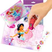 Sacolinha Divertida  Jasmine com Borracha Princesas Disney + 4 Itens