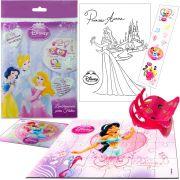 Sacolinha Divertida Jasmine com Piranha de Cabelo Princesas Disney + 4 Itens