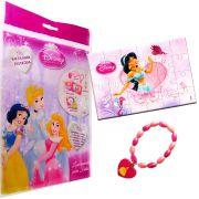 Sacolinha Divertida  Jasmine com Pulseira Princesas Disney + 4 Itens