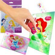 Sacolinha Divertida  Sereia Ariel com Borracha Princesas Disney + 4 Itens