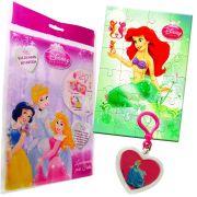 Sacolinha Divertida  Sereia Ariel com Chaveiro Princesas Disney + 4 Itens