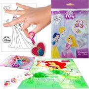 Sacolinha  Surpresa  Sereia Ariel com Chaveiro Princesas Disney + 4 Itens