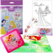 Sacolinha Divertida Sereia Ariel com Quebra-Cuca Princesas Disney + 4 Itens
