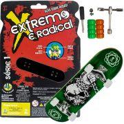 Skate de Dedo Extremo E Radical Caveira Com Acessórios