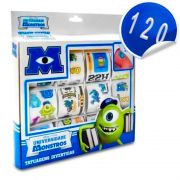 Kit com 120 Tatuagens Divertidas Universidade Monstros Disney - Toyng