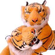 Tigre e Tigresa Safari Selvagem Casal de Pelúcia Grandes