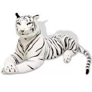 Tigre Real Branco de Bengala Selvagem Pelúcia Grande