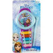 Xilofone Musical Frozen 5 Teclas de Metal Coloridos Disney