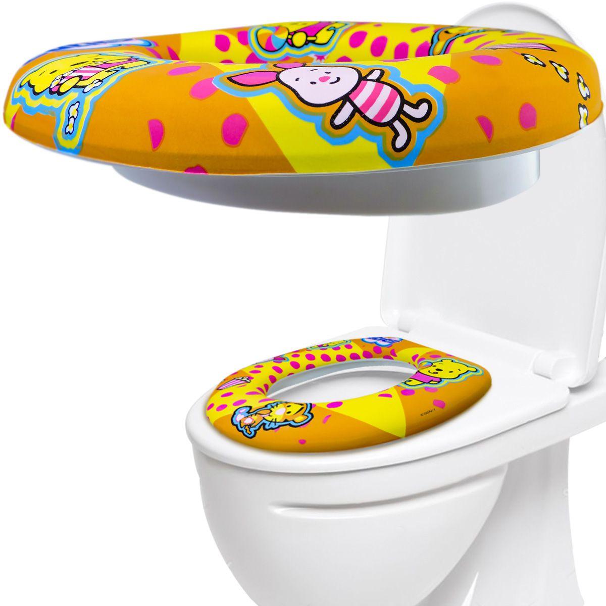 Assento Redutor Acolchoado Infantil Para Vaso Sanitário Disney Baby