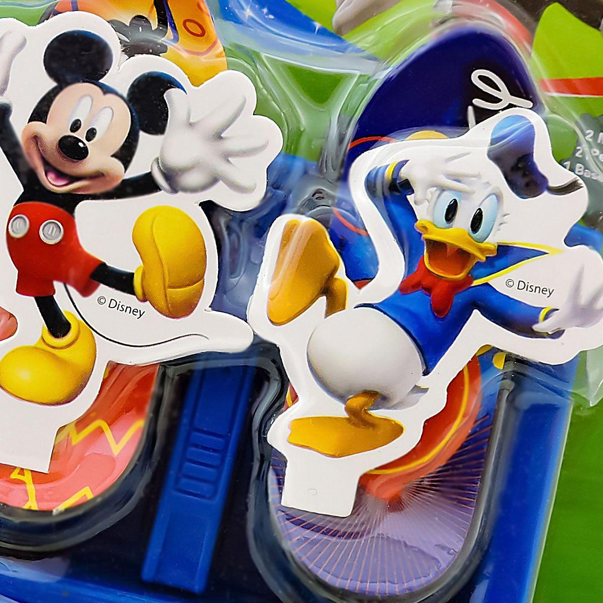Mickey E Donald 2 Skate De Dedo Mais Base Lançadora Disney
