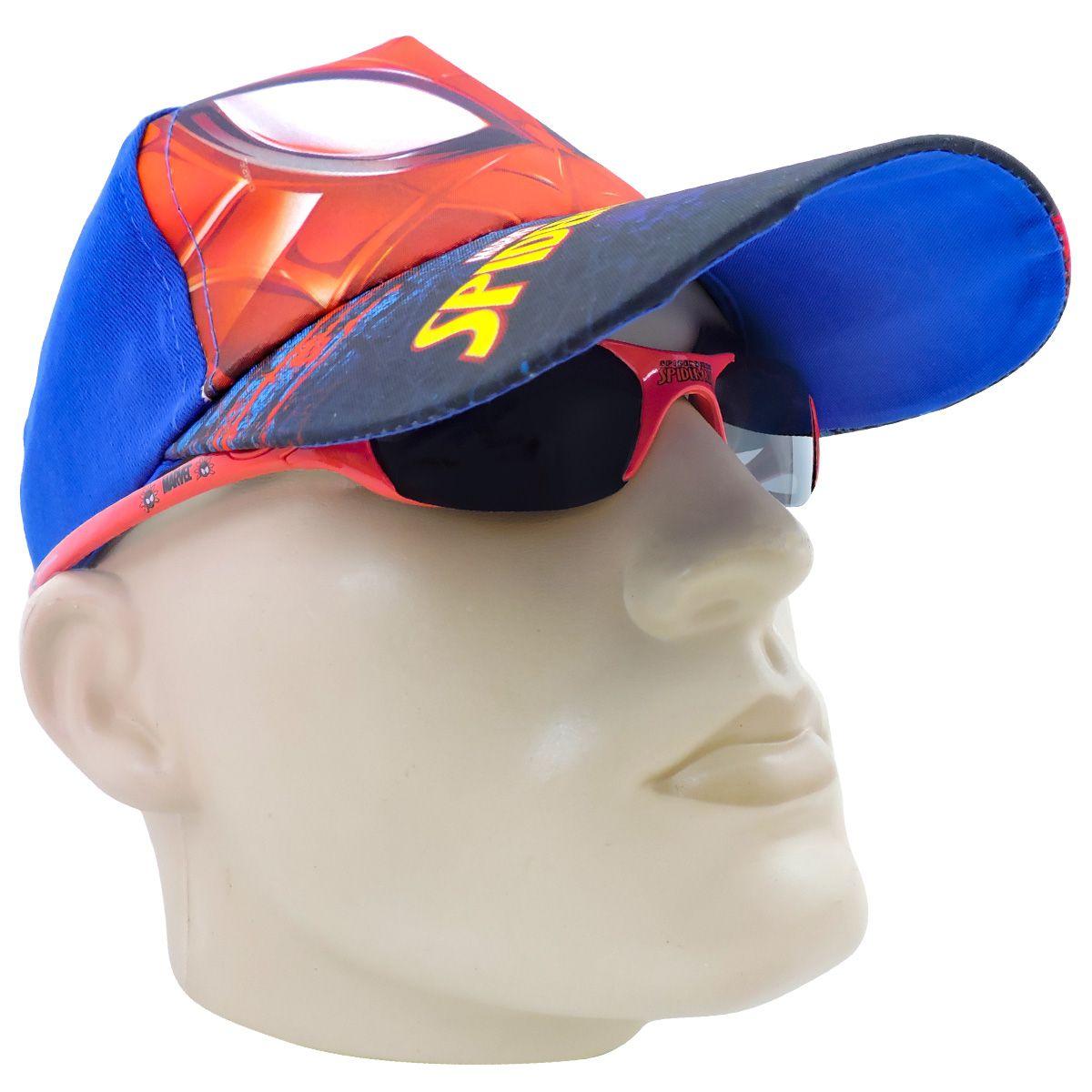 Boné Infantil Homem Aranha mais Óculos de Sol Marvel - Omega Toys 539dfd291e