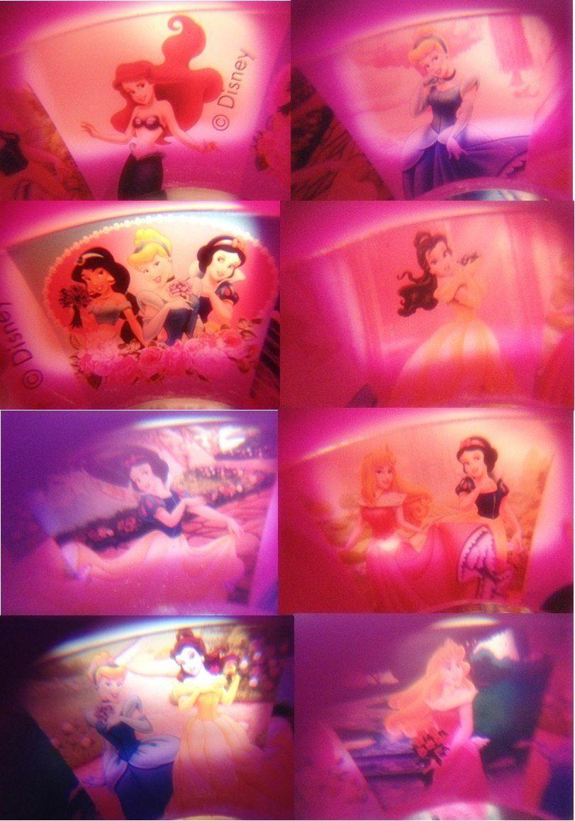 Camera Divertida com 8 Imagens Coloridas Princesas Disney Roxa