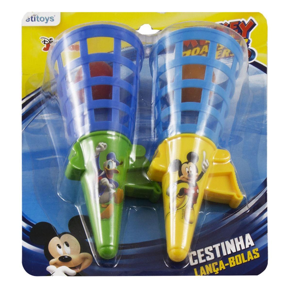 Cestinha Lança Bolas Mickey Disney