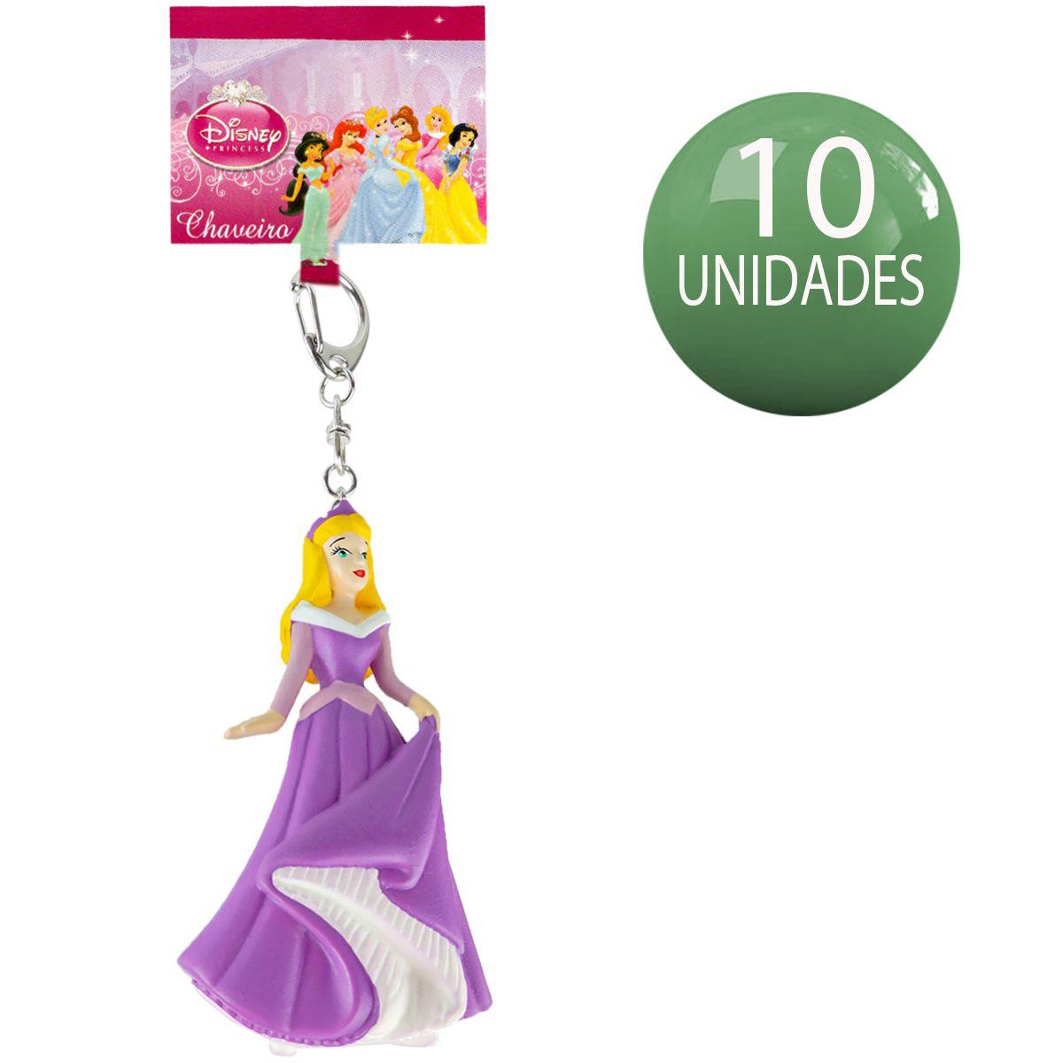 Chaveiro Importado Princesa Aurora Combo com 10 Unidades