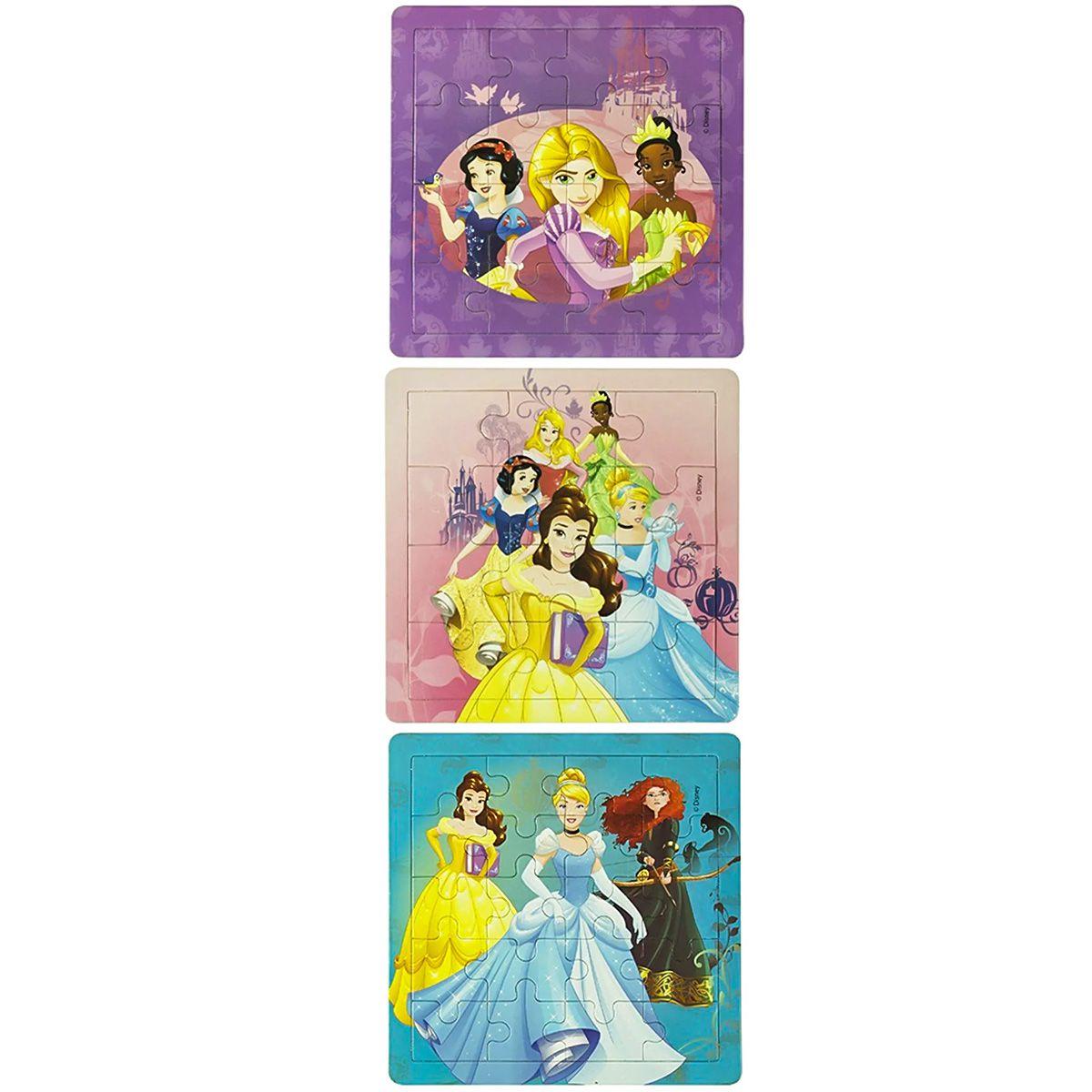 Coleção Com 6 Quebra Cabeças Progressivos Frozen E Princesas Disney