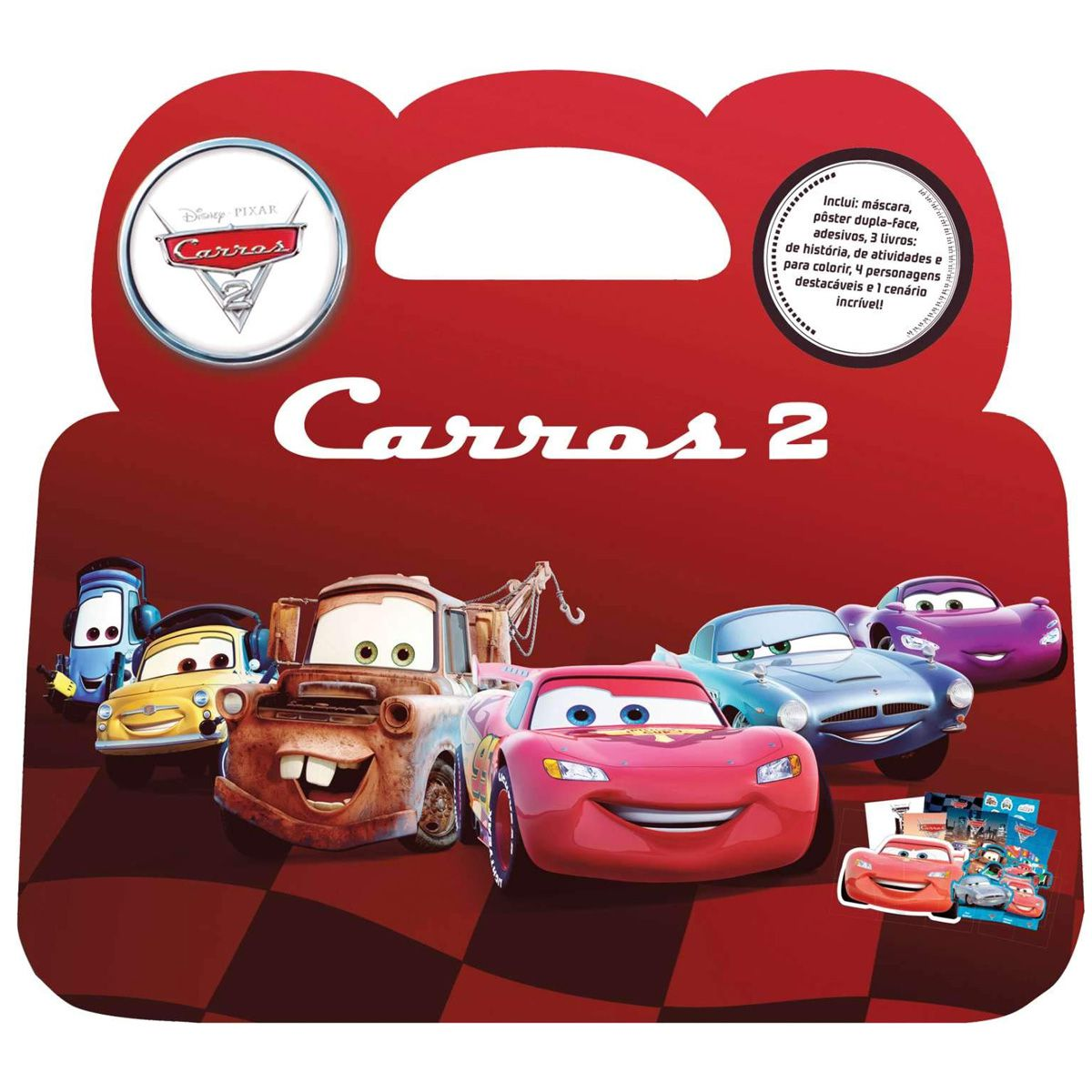Maleta de Atividades Carros  Educacional Disney Cinema