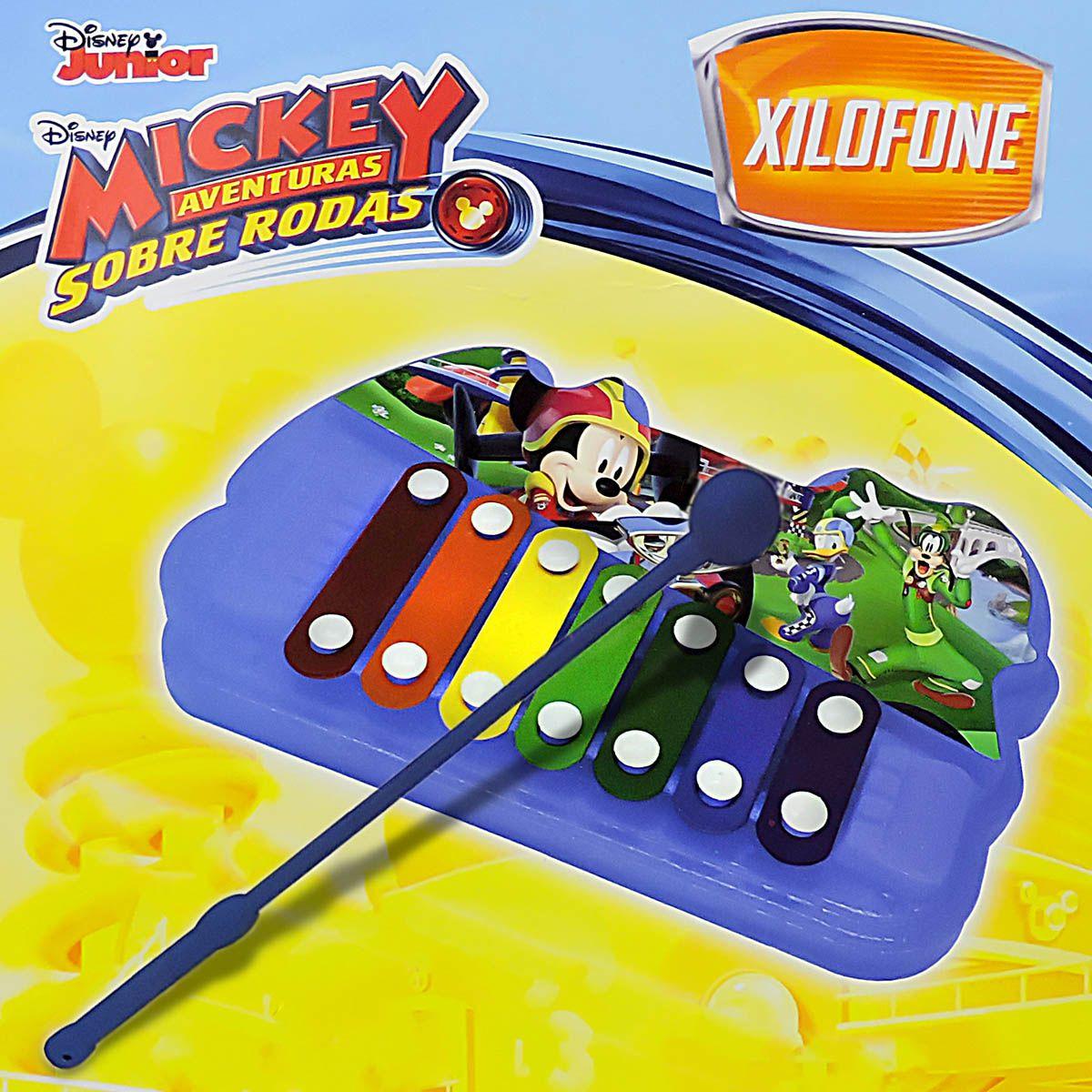 Instrumento Musical Xilofone 7 Teclas de Metal Mickey